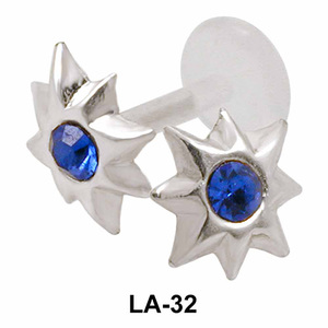 Stony Flower Shaped Labrets Push-in LA-32