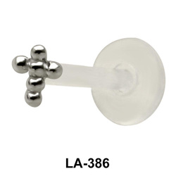 Ball Cross Shaped labrets Push-in LA-386