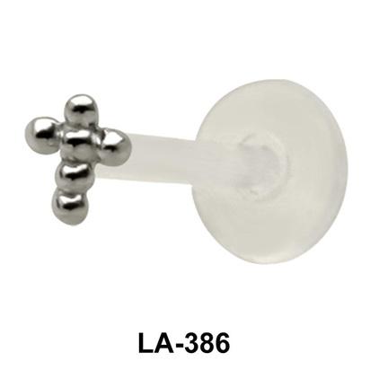 Ball Cross Shaped labrets Push-in LA-386