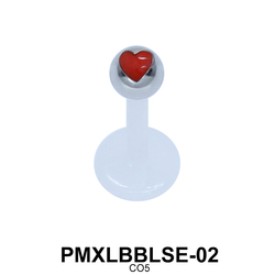 Heart Labret Piercing PMXLBBLSE-02