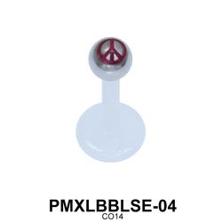 Peace Labret Piercing PMXLBBLSE-04