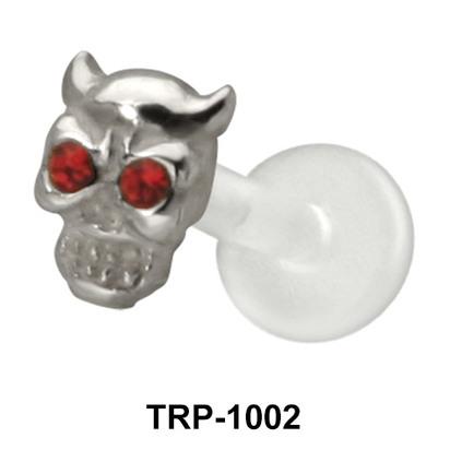 The Devil Skull Tragus Piercing TRP-1002