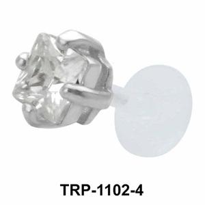 Diamond Stone Tragus Piercing TRP-1102-4