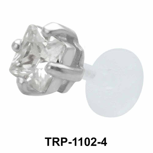 Diamond Stone Tragus Piercing TRP-1102-4