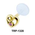 Stone Heart Tragus Piercing TRP-1328