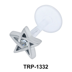 Star with Stone Set Inside External Push In TRP-1332