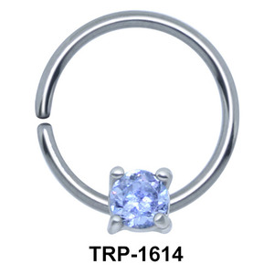 Round CZ Cartilage Tragus Piercing TRP-1614