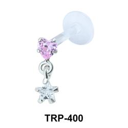 Heart n Star Tragus Piercing TRP-400