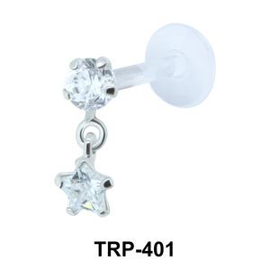 Round n Star Tragus Piercing TRP-401