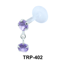 Round Stones Tragus Piercing TRP-402