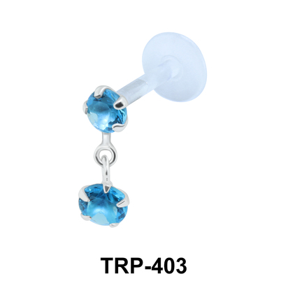 Dual Stones Tragus Piercing TRP-403