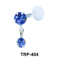 Colored CZs Tragus Piercing TRP-404