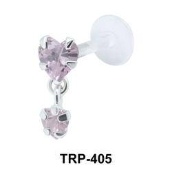 Dual Heart Tragus Piercing TRP-405