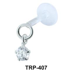 Round CZ Tragus Piercing TRP-407
