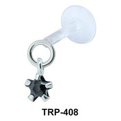 Prong CZ Tragus Piercing TRP-408