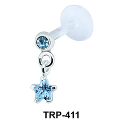 Round and Star Tragus Piercing TRP-411