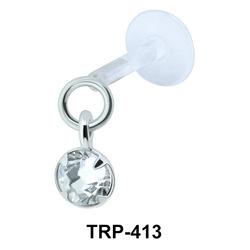 CZ Dangling Tragus Piercing TRP-413