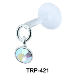 Colored Stone Tragus Piercing TRP-421