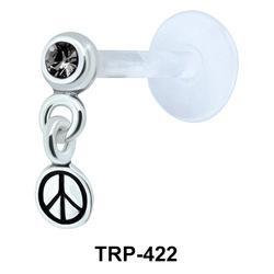 Peace Symbol Tragus Piercing TRP-422