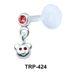Bear Face Tragus Piercing TRP-424