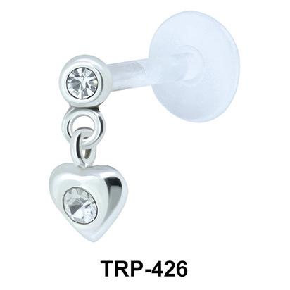 Heart Shaped Tragus Piercing TRP-426