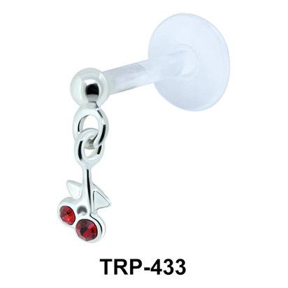 Cherry Tragus Piercing TRP-433