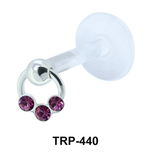 Three Stone Tragus Piercing TRP-440