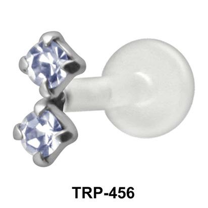 Dual Stone Tragus Piercing TRP-456