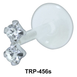 Double Stone Tragus Piercing TRP-456s