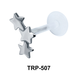 Three Stars Tragus Piercing TRP-507