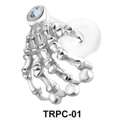 Skeleton Hand Tragus Piercing TRPC-01