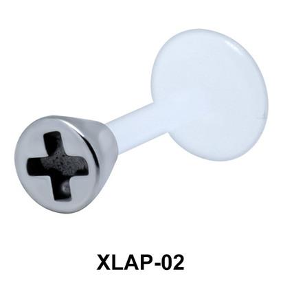 Plus Sign External Labrets Piercing XLAP-02