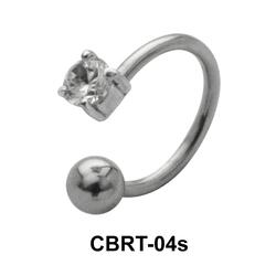 Prong Set Stone Circular Barbells CBRT-04s