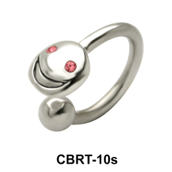 Smile Face Circular Barbells Face Piercing CBRT-10s
