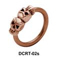 Dual Skull Face Closure Ring DCRT-02s