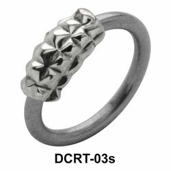 Pyramid Band Face Closure Ring DCRT-03s