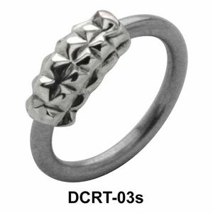 Pyramid Band Belly Piercing Ring DCRT-03s