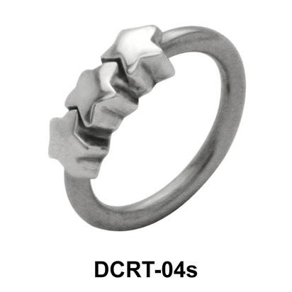 Triple Star Belly Piercing Ring DCRT-04s