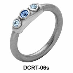 Multistoned Face Closure Ring DCRT-06s