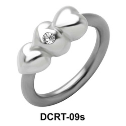 Stony Hearts Face Closure Ring DCRT-09s