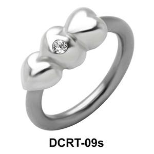 Stony Hearts Face Closure Ring DCRT-09s