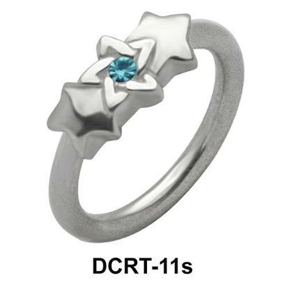 Stone Starred Belly Piercing Ring DCRT-11s