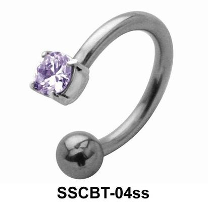 Smaller Stone Set Circular Barbell CBRT-04ss