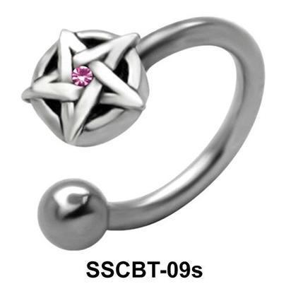 Stone Set Star Circular Barbells CBRT-09s