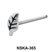 Leafy Shaped Silver Nose Stud NSK-365