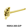 Leafy Shaped Silver Nose Stud NSK-365