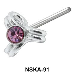 Stone Design Silver Nose Stud NSK-91