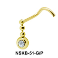 Bead Shaped Silver Nose Stud NSK-51