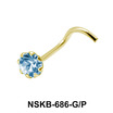 Small Prong Set CZ Silver Nose Stud NSK-686