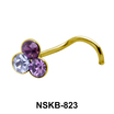 Colorful Stones Nose Stud NSK-823